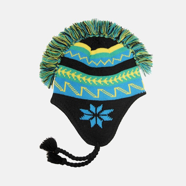 "Ladies' ""Mohawk"" 100% Acrylic Knit Flap Cap"