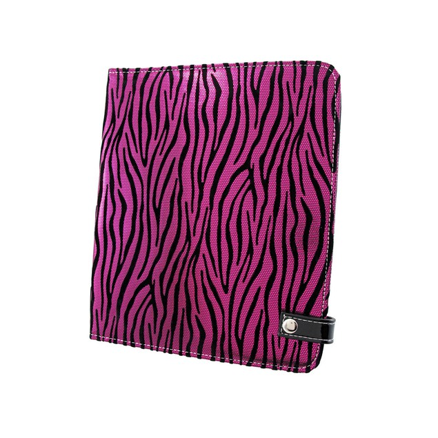 Metallic Hot Pink Zebra Striped Ipad Cover/Stand Touch Screen Tablet