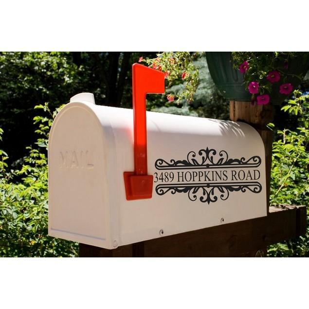 Vinyl Mailbox Address Decal