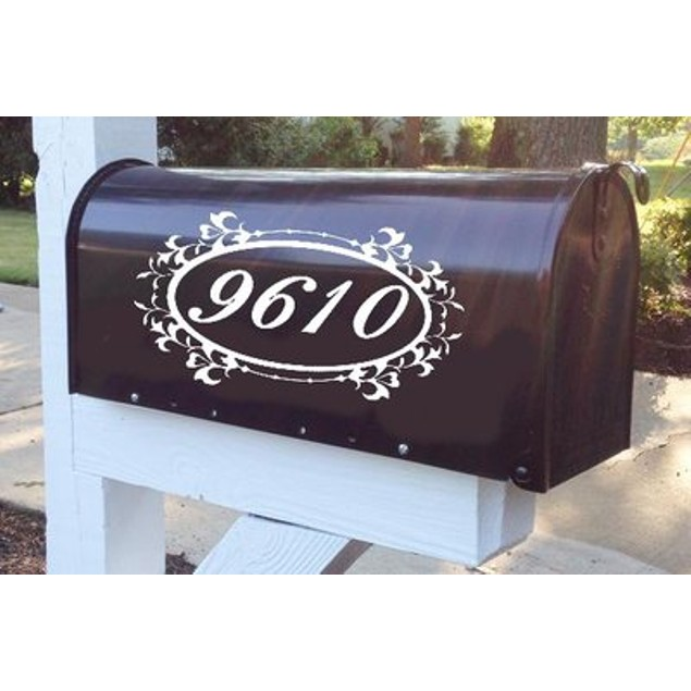 Floral Frame Vinyl Mailbox Decal