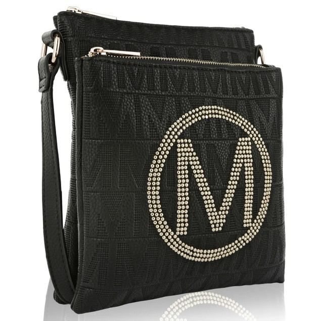 MKF Collection Genoa M Signature Crossbody Bag by Mia K Farrow