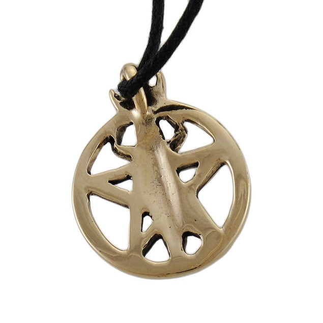 Pentacle Of The Goddess Bronze Finished Pendant W/ Mens Individual Pendants