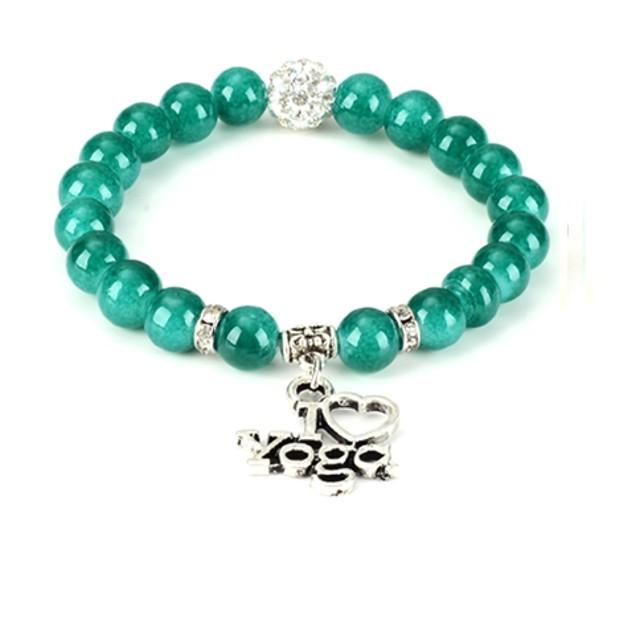 I Love Yoga Bead Bracelet