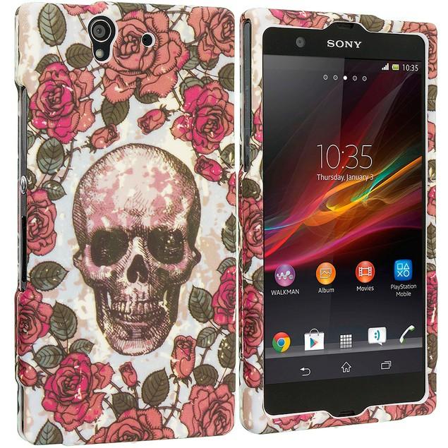 Sony Xperia Z Hard Rubberized Design Case Cover