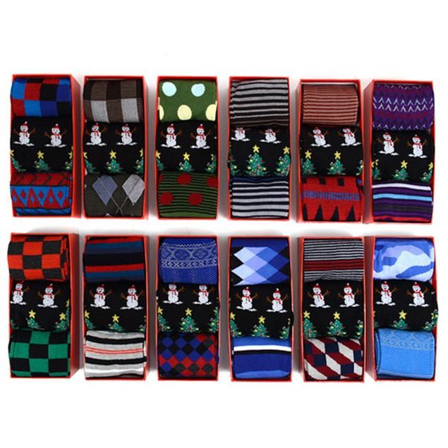 3-Pairs Randomly Assorted Men's Socks Holiday Gift Set