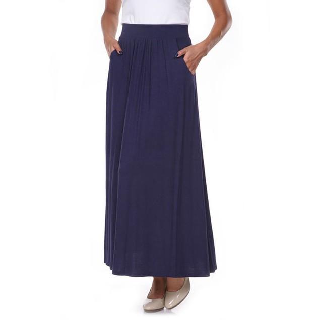 Navy Maxi Skirt