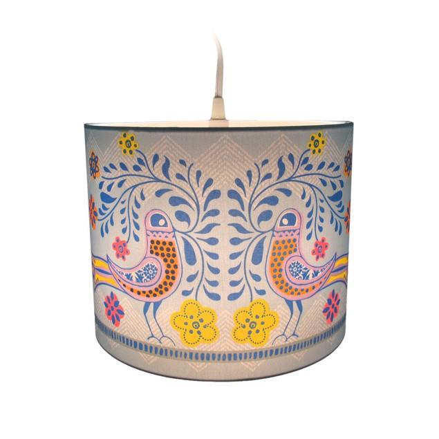 Molly 'N Me Birds In Bloom Drum Shade Pendant Lamp Pendant Lamps