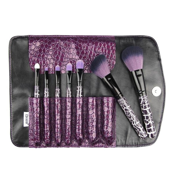 7 Piece Purple Thunder Makeup Brush Set