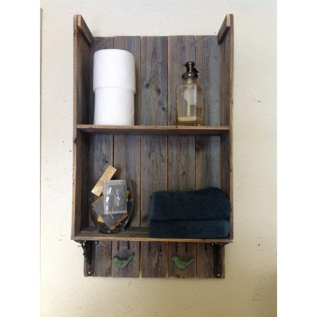 Sweet Southern Charm 2: Reclaimed Wood Bathroom Shelf