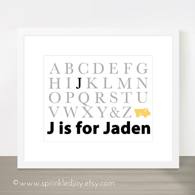Personalized ABC Name Print
