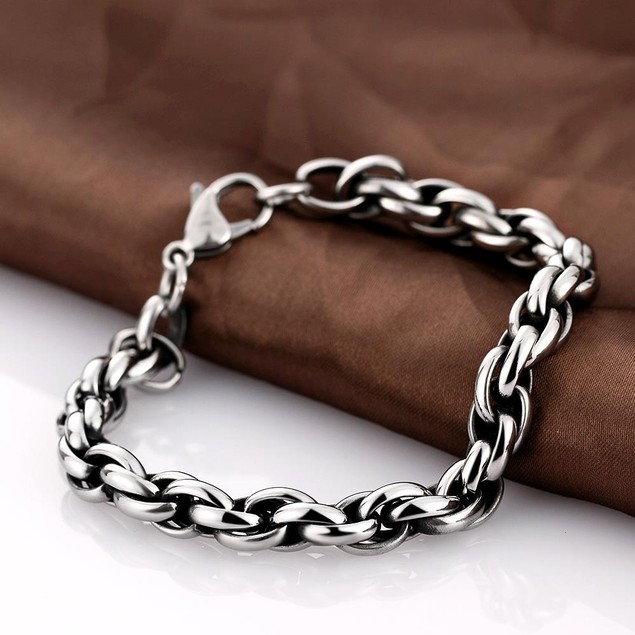 Double Chained Stainless Steel Bracelet