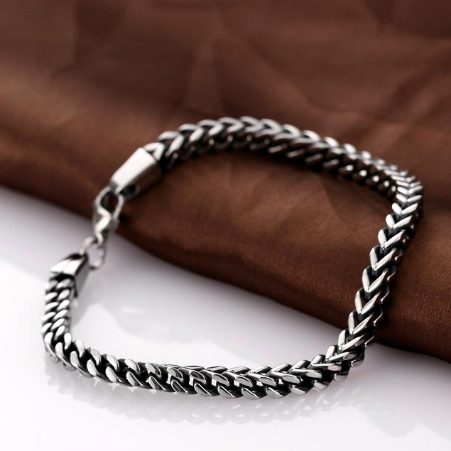 Thin Line Cut New York Stainless Steel Chain
