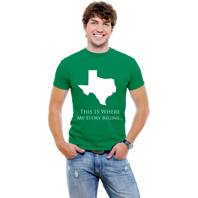 This is Where My Story Begins.. Texas Men T-Shirt