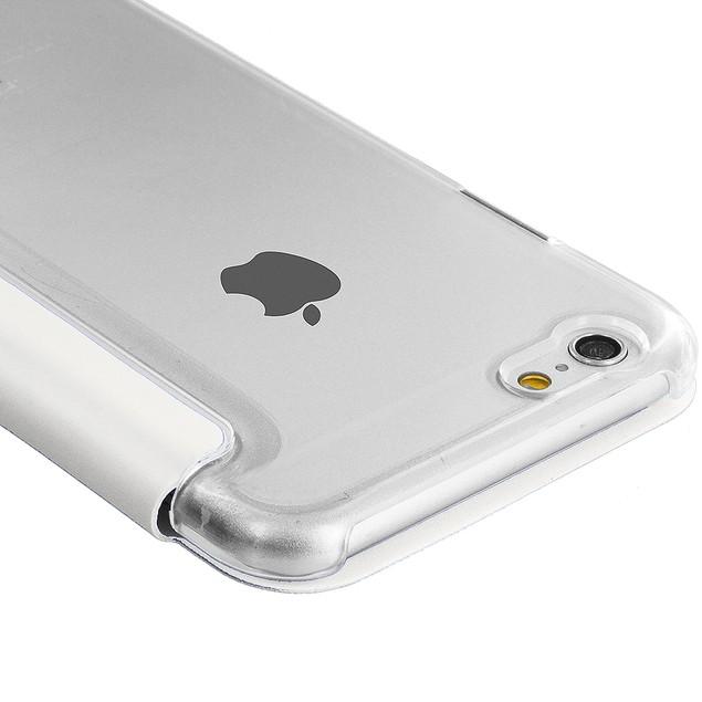 Apple iPhone 6 Plus (5.5) Slim Wallet Flip Case Clear Back Window Cover