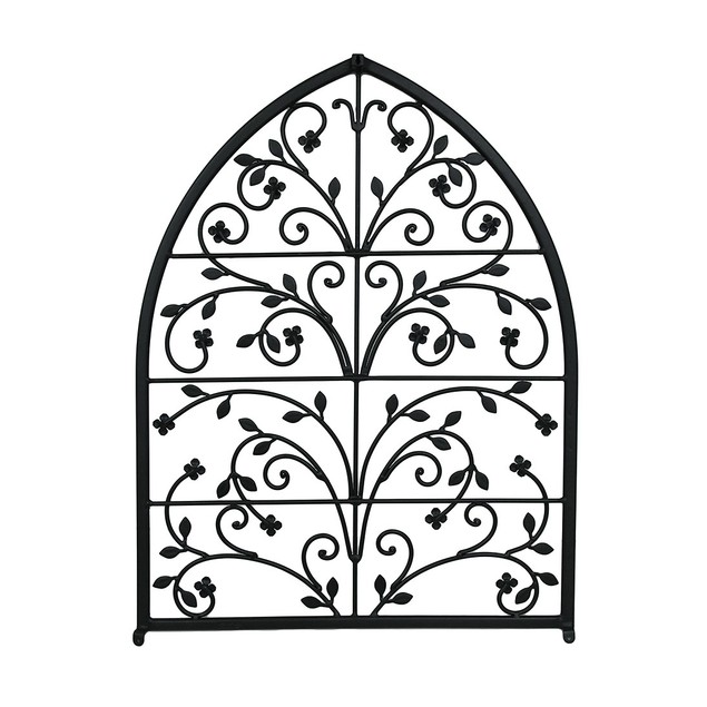 Scrolling Branches Decorative Arched Wall Grille Wall Sculptures