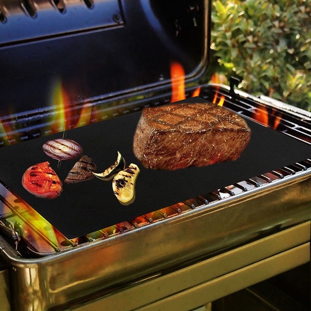 2-Pack BBQ Grill Mat Heavy Duty Non Stick Reusable