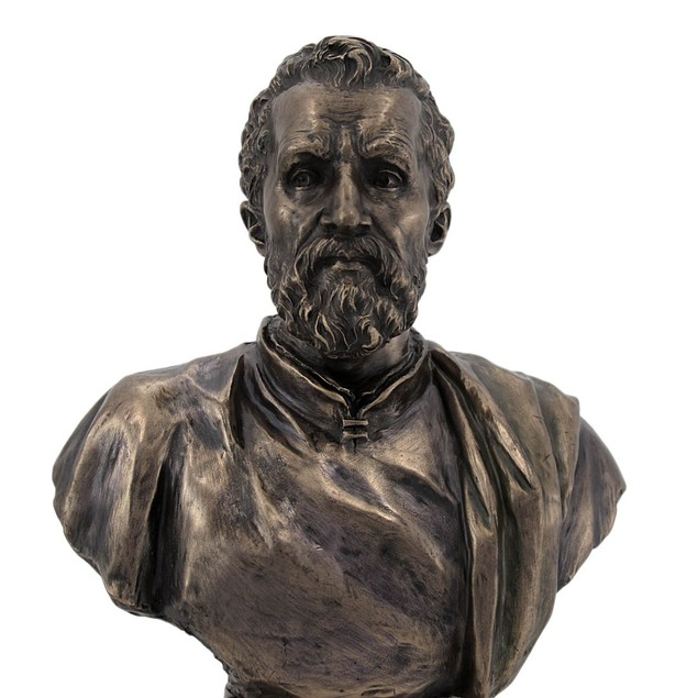 Michelangelo Bronze Finish Bust Statue Artist Bust Sculptures