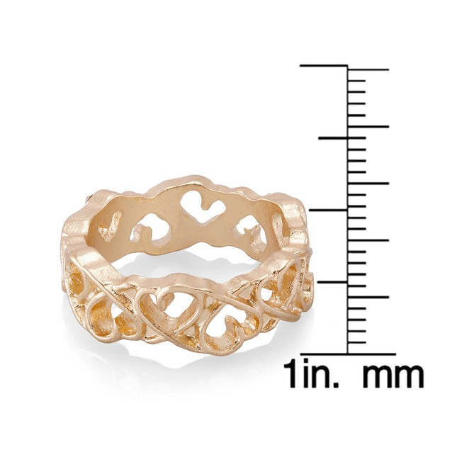Alternating Hearts Eternity Band Ring - 3 Colors