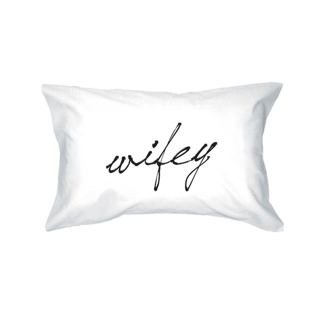 Hubby and Wifey Matching Couple Pillowcase