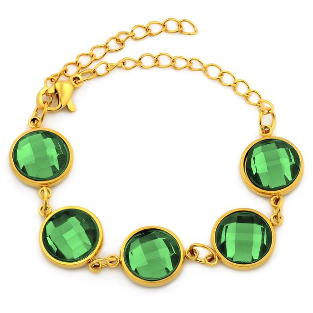 Gold Plated Adjustable Bracelet & Anklet