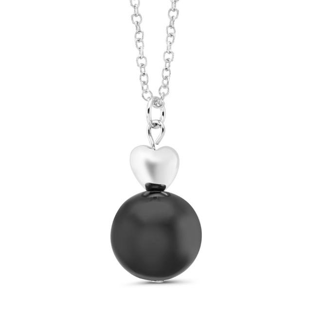 Drop Pearl Heart Necklace - 3 Colors