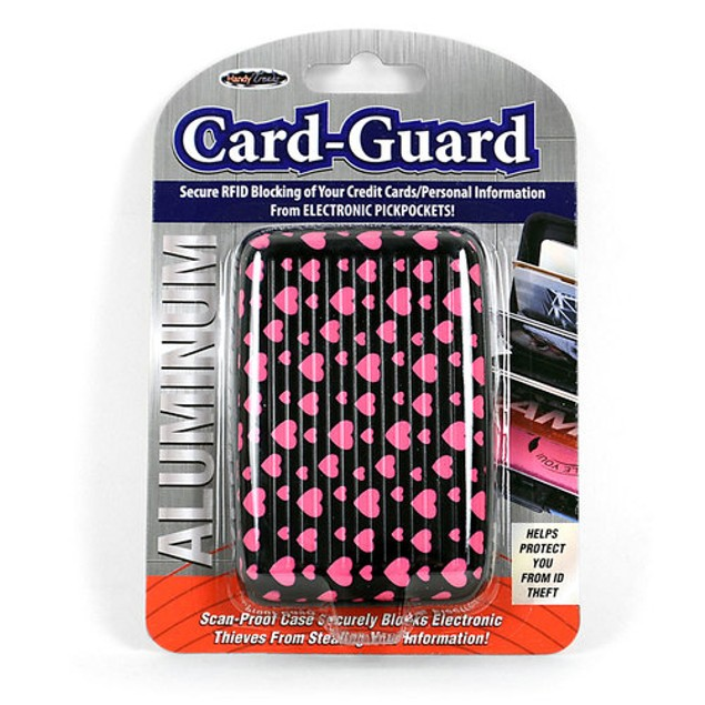 2-Pack: Heart Aluminum Compact Card Wallet w/RFID Protection