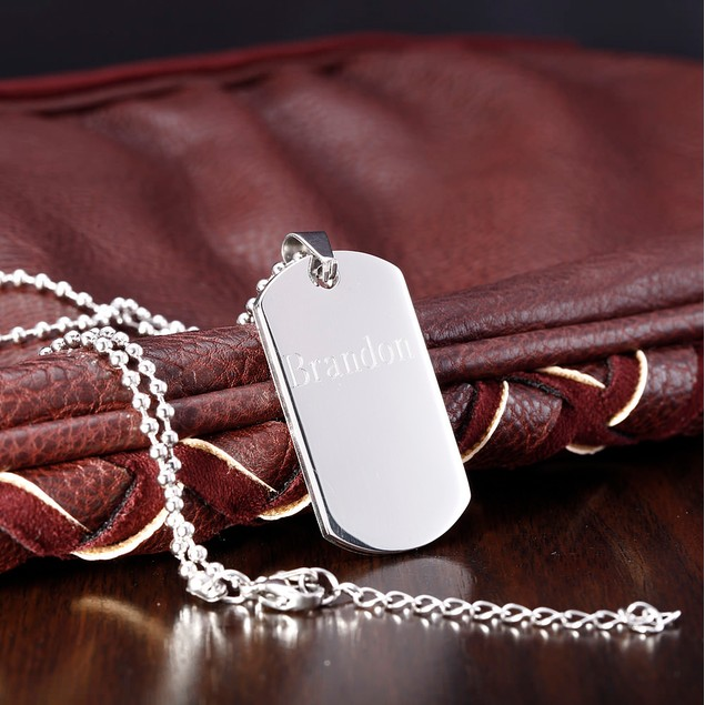 Personalized Stainless Steel Dog Tag Necklace - 5 Styles