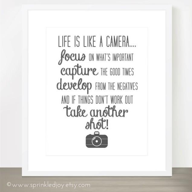 Life Is Like A Camera Print