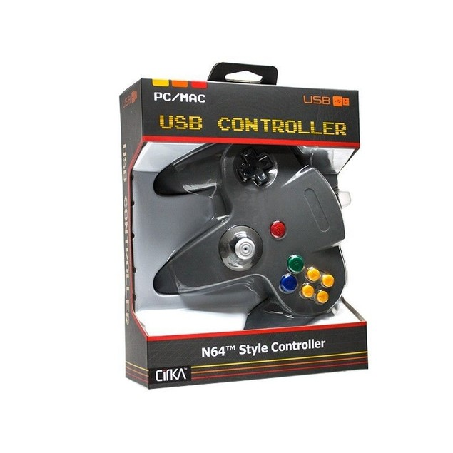 USB Nintendo 64 N64 Controller for PC and Mac (Gray)