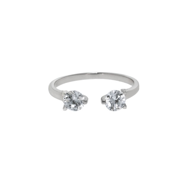 Modern Split 1.5cttw Simulated Diamond Ring - 3 Colors