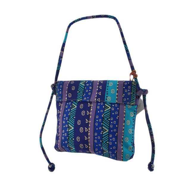Laurel Burch Talking Horses Drawstring Cross Body Womens Cross Body Bags
