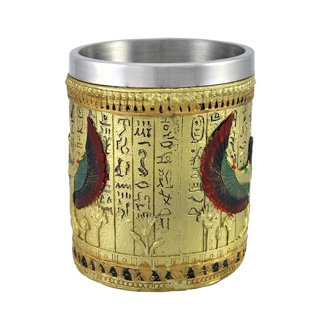 Egyptian Winged Isis Golden Coffee Mug 12 Oz. Coffee Cups