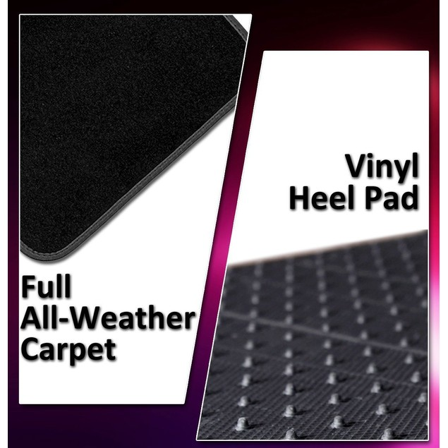 Zone Tech Black  Carpet All Weather Heavy Duty Vehicle 4 Piece Floor Mats