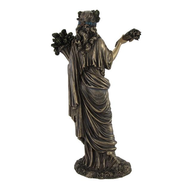 Greek Goddess Of Harvest Demeter Bronzed Statue Statues