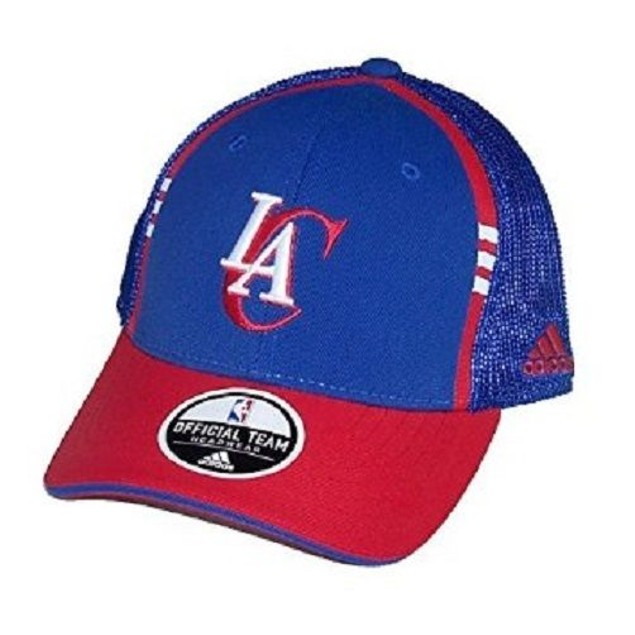 "Los Angeles Clippers NBA Adidas ""2 Tone Mesh Back"" Flex Fitted Hat"