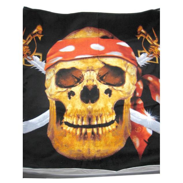 Pirate Skull  Crossbones Beach Towel 60 In. X 30 Beach Towels