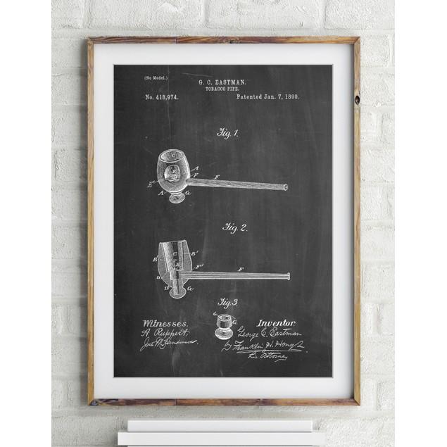 Smoking Pipe 1890 Patent Poster