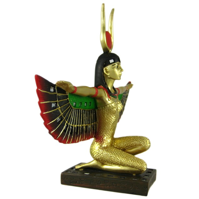 Winged Isis Egyptian Goddess Statue Deity Statues