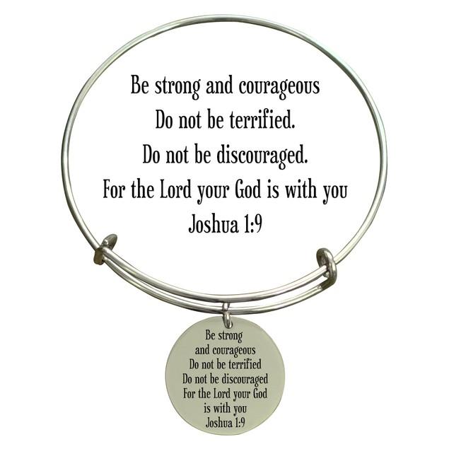 Holy Scripture Bangle  JOSHUA 1:9