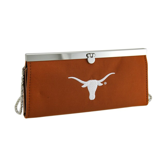 Embroidered Texas Longhorns Fabric Clutch Wallet Sports Fan Wallets