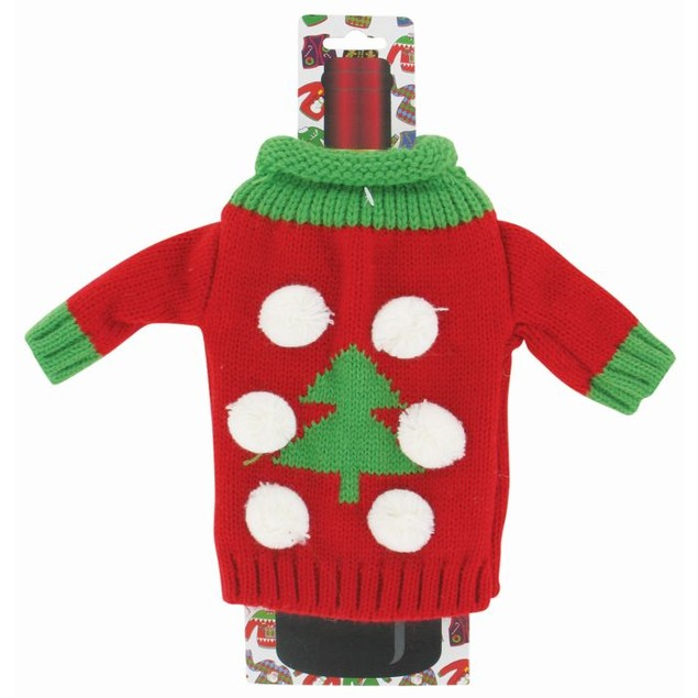 4-Pack Uncle Bob's Ugly Wine Bottle Sweaters