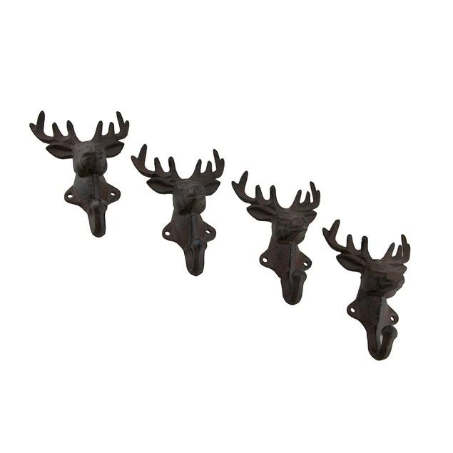 Rustic Cast Iron Deer Head Decorative Wall Hook Decorative Wall Hooks