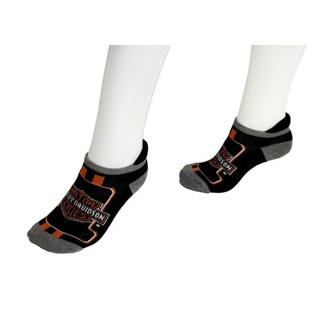 Harley Davidson 2 Pair Pack Ladies Athletic Ankle Womens Casual Socks