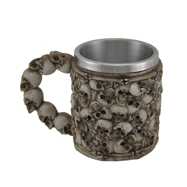 The Boneyard Skull Covered Drinking Mug Mugs