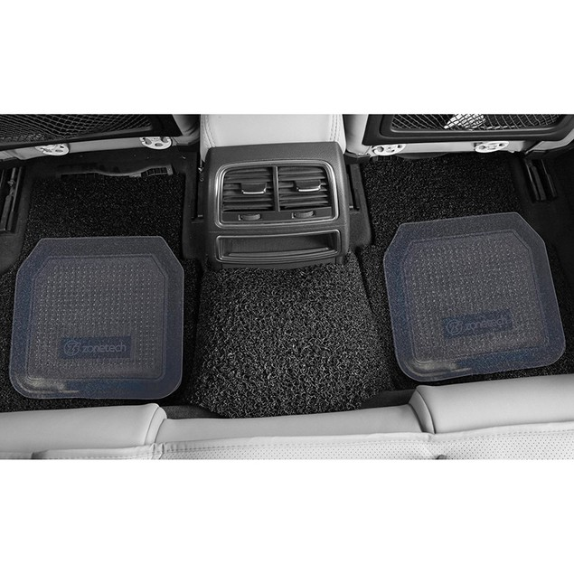 Zone Tech Durable Rugged Rubber Floor Mats 4 Piece