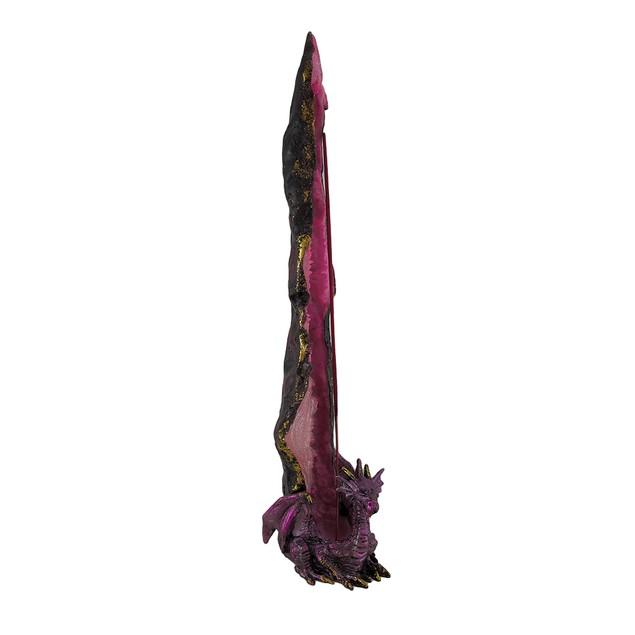 Metallic Purple Crystal Dragon Standing Incense Incense Holders