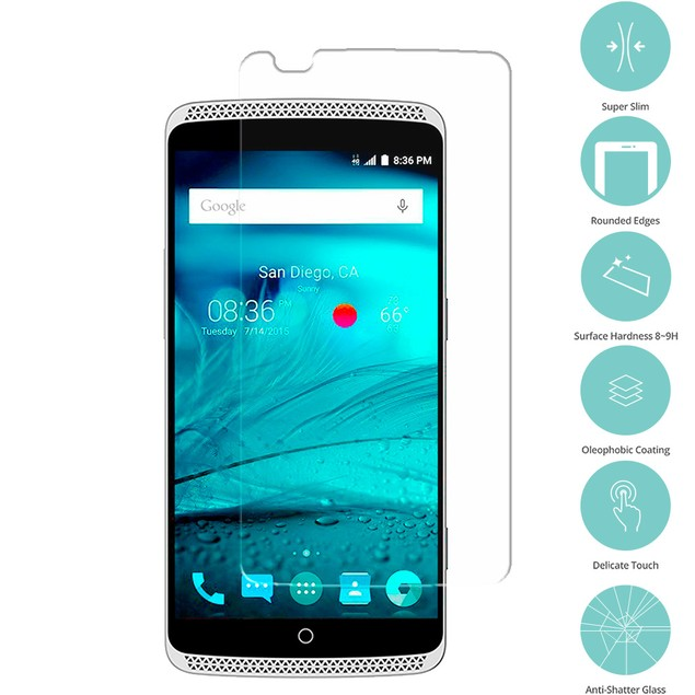 ZTE Axon Tempered Glass Film Screen Protector Clear