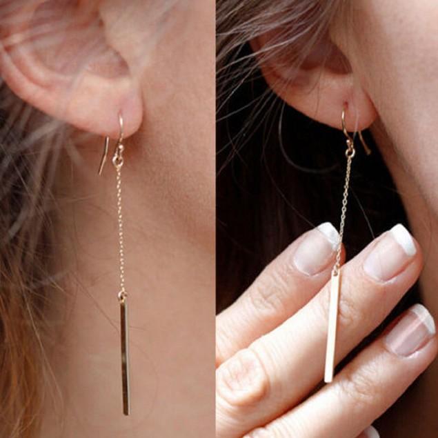 Gold Tone Dangaling Earrings