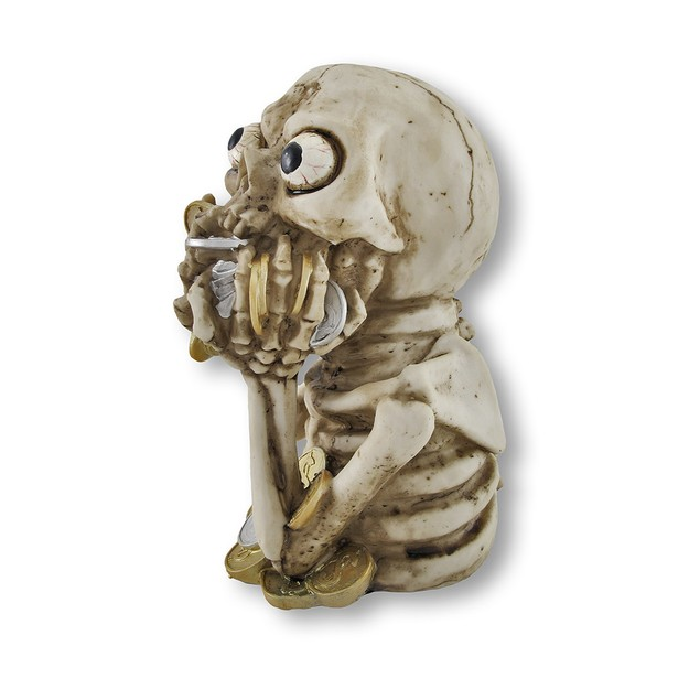 Crazy Money Hungry Skeleton Coin Bank Toy Banks