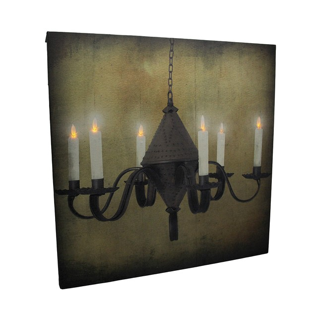 Led Lighted Rustic Hanging Candelabra Canvas Print Prints